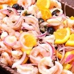 ラ・ベファーナ - 海老とキュウリのオレンジマリネ
