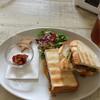 アサカフェ - 料理写真:エッグ&ハンバーグサンドプレート 800円