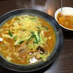 ラーメン仙花 - カレータンメン+ミニカレー