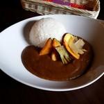 安蔵里かふぇ - 料理写真:有機野菜のせカレー