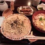 5619152 - しゃも御膳(蕎麦は食べかけです^^;)
