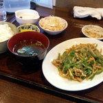 ふじ - チンジャオルース定食