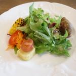 森のアルム - 前菜のサラダ