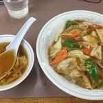 SLつけ麺 - 中華丼¥800(16-09)