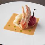 ケンゾーエステイトワイナリー - 活オマール海老のベニエ バニラ香るトマトのコンフィ、オマールクリームソース ¥2,900-