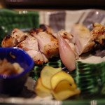 杜若 - 三河鶏の塩麹漬け炙り