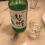 赤坂韓国料理・焼肉 兄夫食堂 - チャミスルストレートで