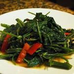 馬来風光美食 - 空芯菜のブランチャン炒め