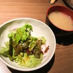 56198223 - サラダ、味噌汁
