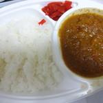 松丈 - カレーライス:税別439円 ※惣菜コーナーにメニューだけ掲示。店員さんに注文すればよそってくれます。