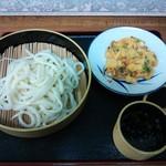 松乃家生麺 - ざるとかき揚げ