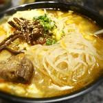 焼肉牛屋 - 冷麺の麺+カルビスープ