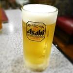 牛屋 - 生ビール(中)¥590