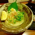 美糸 - 冷やしレモンぶっかけおうどん800円(税込)