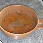 和風喫茶 くすの樹 - トーストモーニングの野菜スープ(2016.09.16)