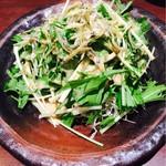 支那そば屋 - ジャコと水菜のサラダ ハーフ