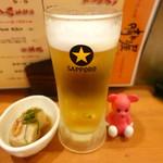 銘酒居酒屋 晴れる屋 - 生ビール 390円