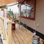 焼きそばバル飯島屋 - 木製のテラス席が完成しました