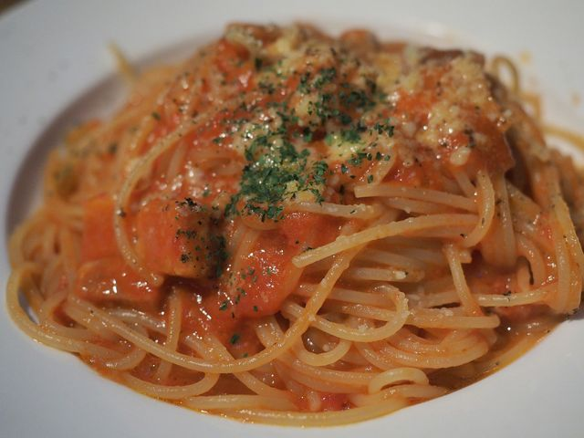 アマトリチャーナのスパゲティ二