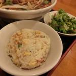 蘭美亭 - サービスのミニ炒飯、サラダ