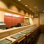 祇園えもん - 寿司屋の醍醐味を味わえるカウンター席(8席)