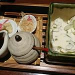 酒と肴 萬作 - 自家製 ねぎ豆腐