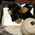 酒と肴 萬作 - 自然薯揚げ