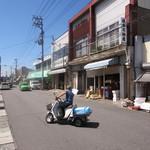 みなと食堂 - JR陸奥湊駅、正面の光景