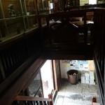 一茶寮 - 下がギャラリー  スリッパに履き替え 二階が喫茶店