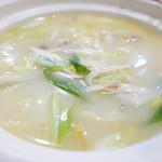 川香苑 - 鶏肉とネギ塩味煮込み麺980円