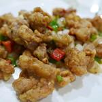 川香苑 - カエルの塩山椒炒め1980円