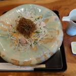56225091 - 「高原野菜そば」、日本一重たいそばの器。