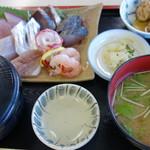 港あおしま - 青島どれ海鮮定食 1100円