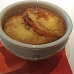 meindaininguitozakura - メインのグラタンスープ
