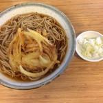 新川うどん店 - 天ぷら蕎麦大盛り 460円+ 120円