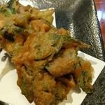56230905 - 伊江島の野菜の天ぷら。
