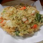 Shunsai - かき揚げはサクサクで豊富な食材が入っています