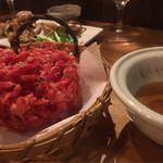 蕎麦角ヤ - 紅生姜天ぷら