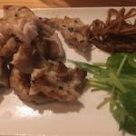 蕎麦角ヤ - 鶏せせり焼き