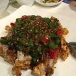 川香苑 - 地鶏の生唐辛子ソースかけ1580円