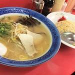 花ちゃん - 焼飯+ラーメンセット:740円