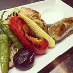 ガレリア - 鹿児島特選豚肉の自家製ソーセージと季節の窯焼き野菜