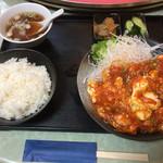 仲達 - 海老と卵のチリソース煮込み(850円)【平成28年9月18日撮影】