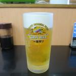 まぐろ屋大将  - 生ビール
