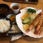 ハイジ - 大エビフライ定食(ご飯小盛り)