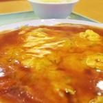 海邦飯店 - 料理写真:えび卵とじ甘酢かけ