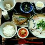 亭ノ元 - 豆乳だご汁定食1,300円