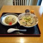 もも家 - 鶏白湯チャーシューメン ミニチャーハン