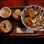 太船 - カレーうどん かやくご飯セット