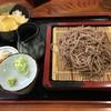 そば処さかい - 料理写真:ざるそば(750円)+ミニ天丼(350円)